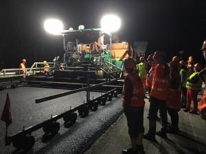 Visite chantier de nuit A40 - juillet 2016